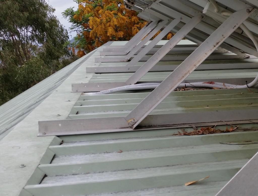 Solar rack adjusting