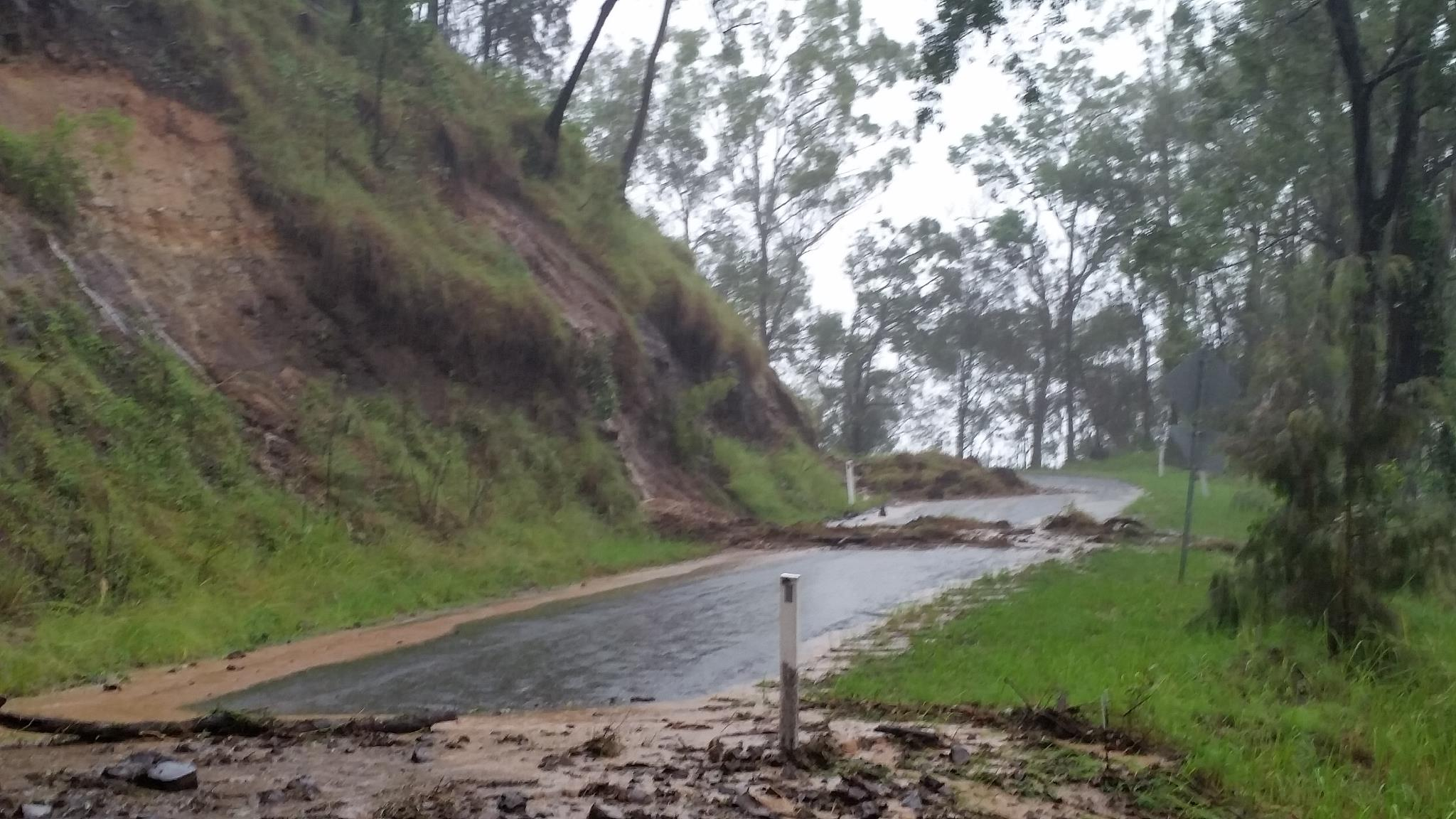 Landslides and Road blockages - Lamington National Park Rd - Cyclone Debbie - 30th March