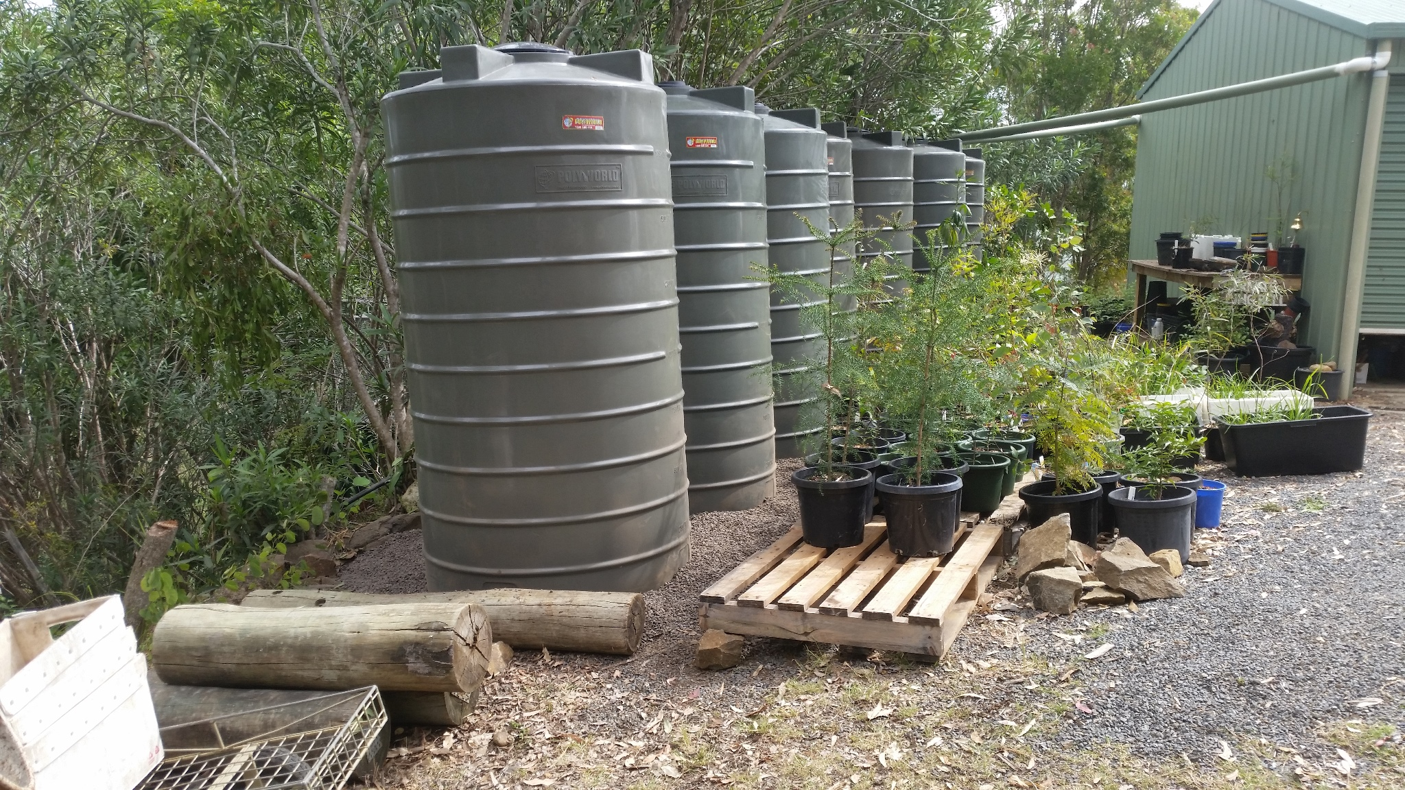 New water tanks - Shed level