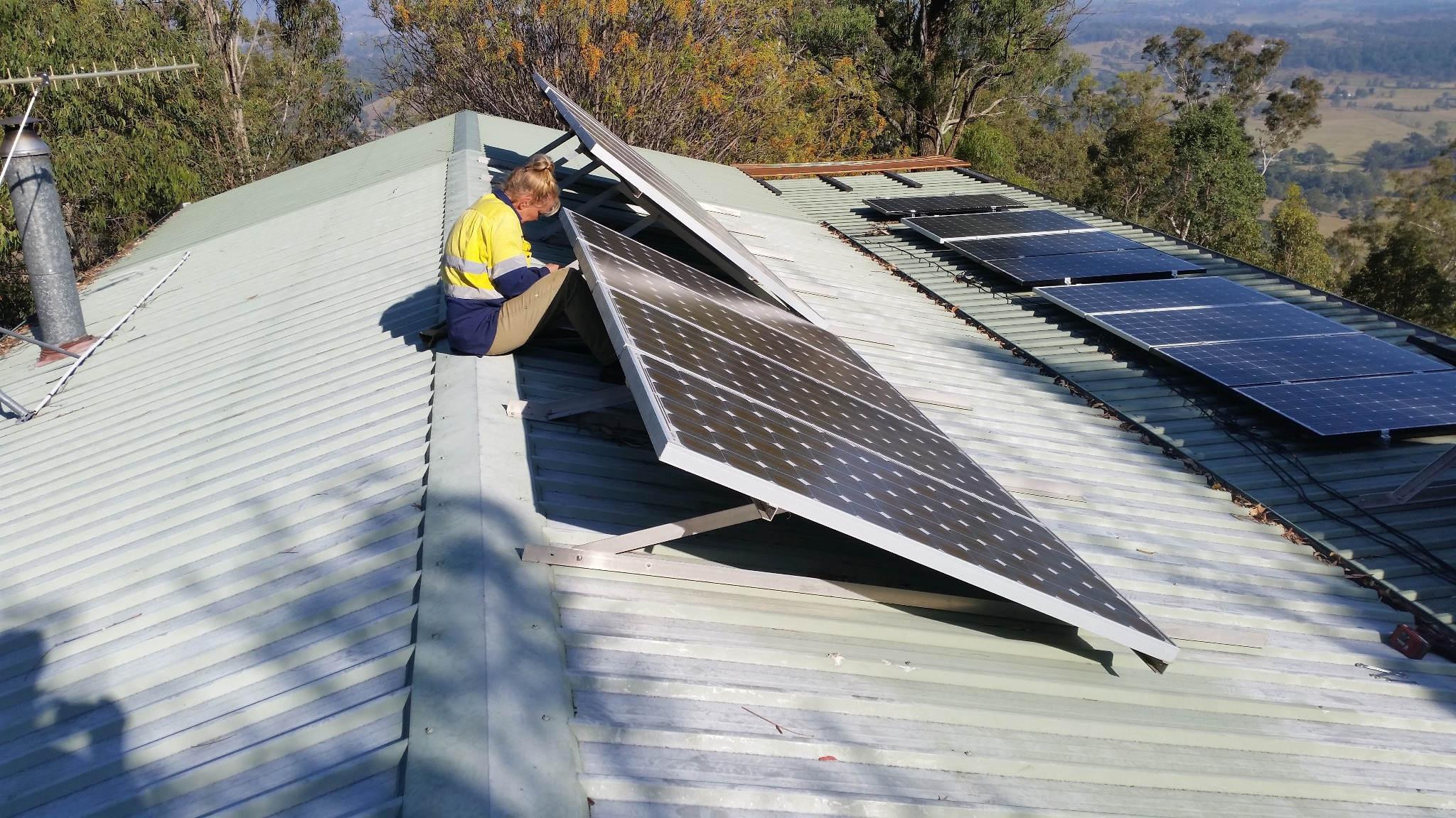 Adjusting the Solar Panels