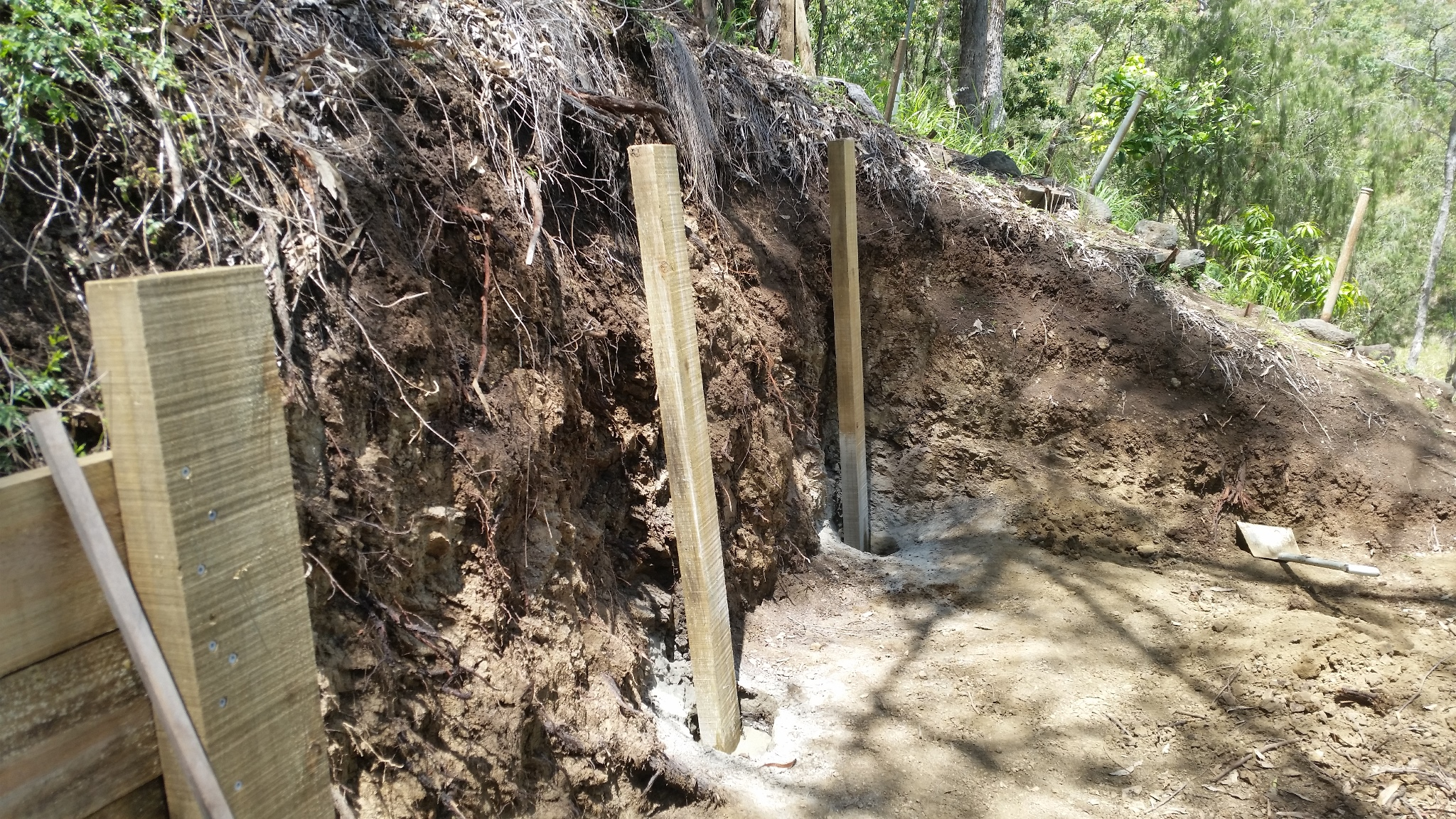 Posts for the Compost Wall