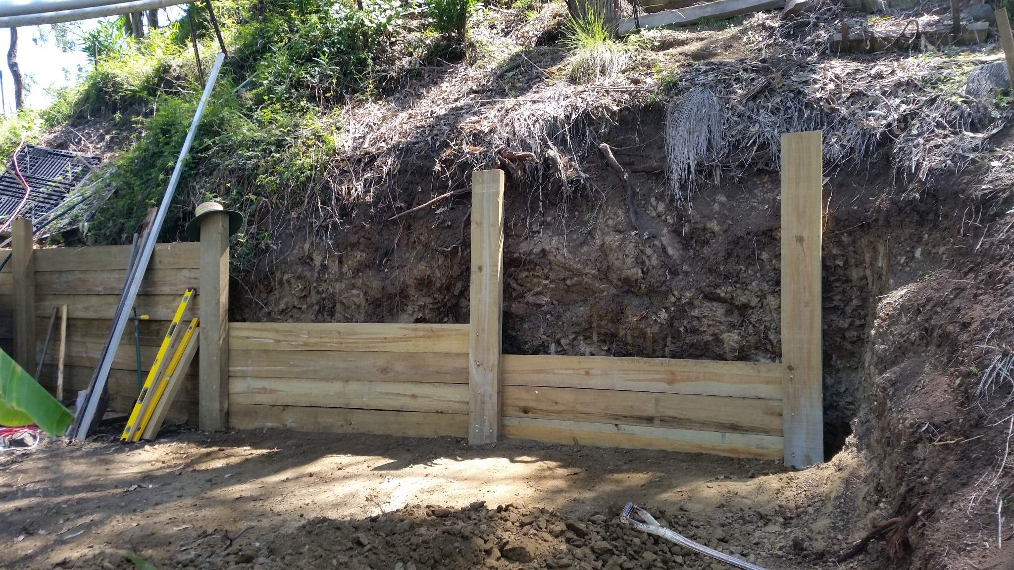 Compost Wall - Partly completed