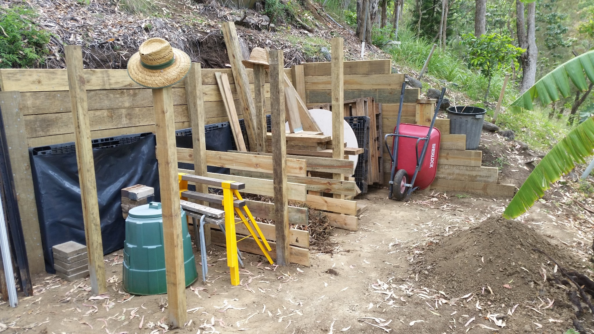 Compost and Storage Bins - Mostly finished