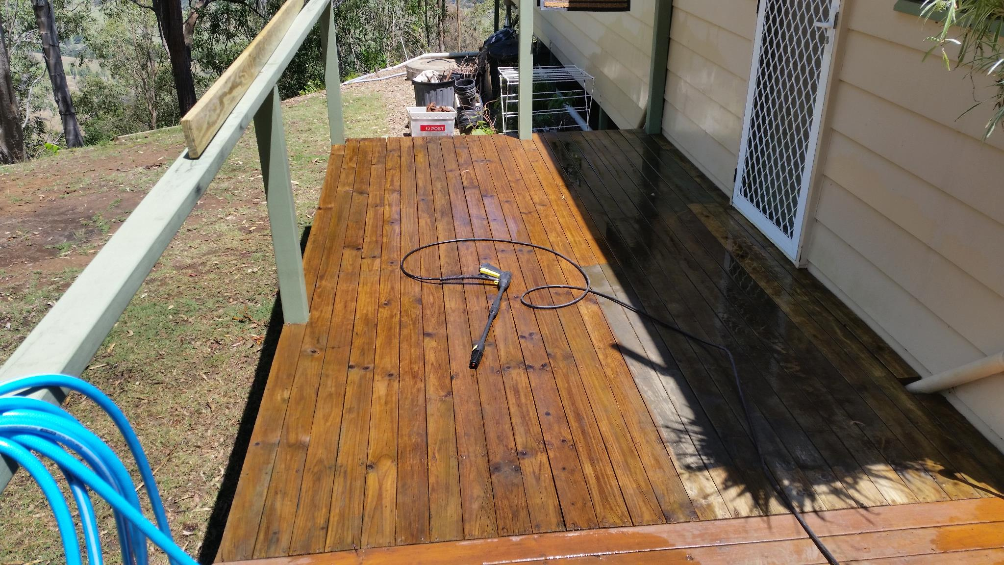Cleaning the last deck