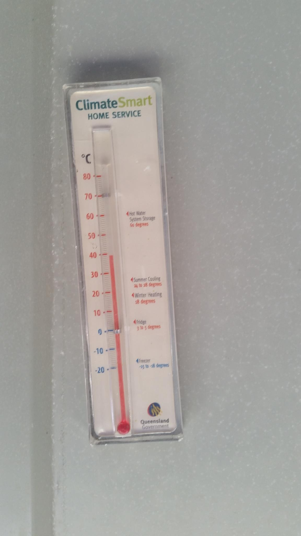 Temperature of the deck roof