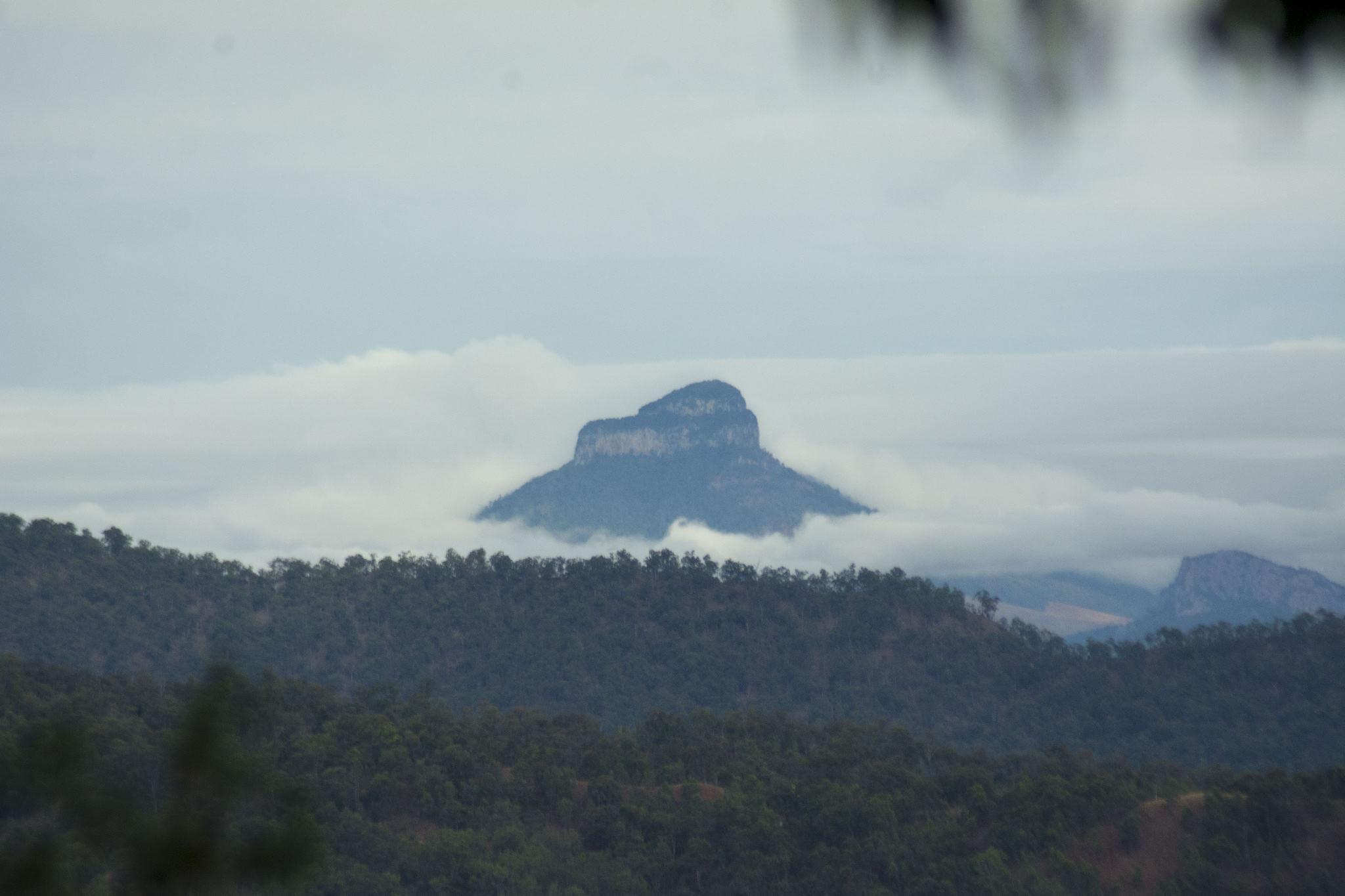 Mt Lindesay in fog