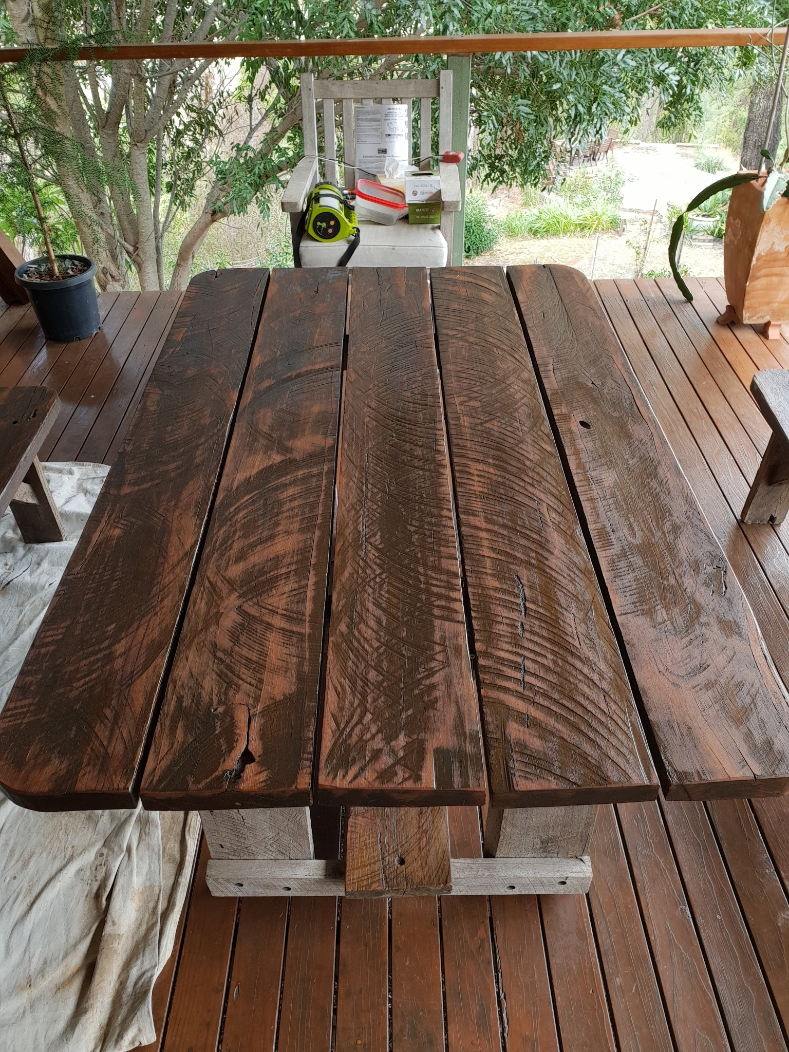Hardwood table maintenance