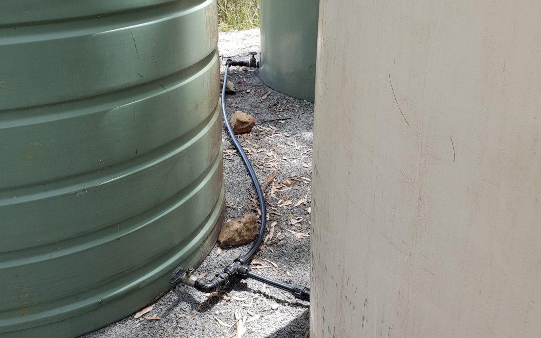 Plumbing the Nursery tanks – 1st February 2019
