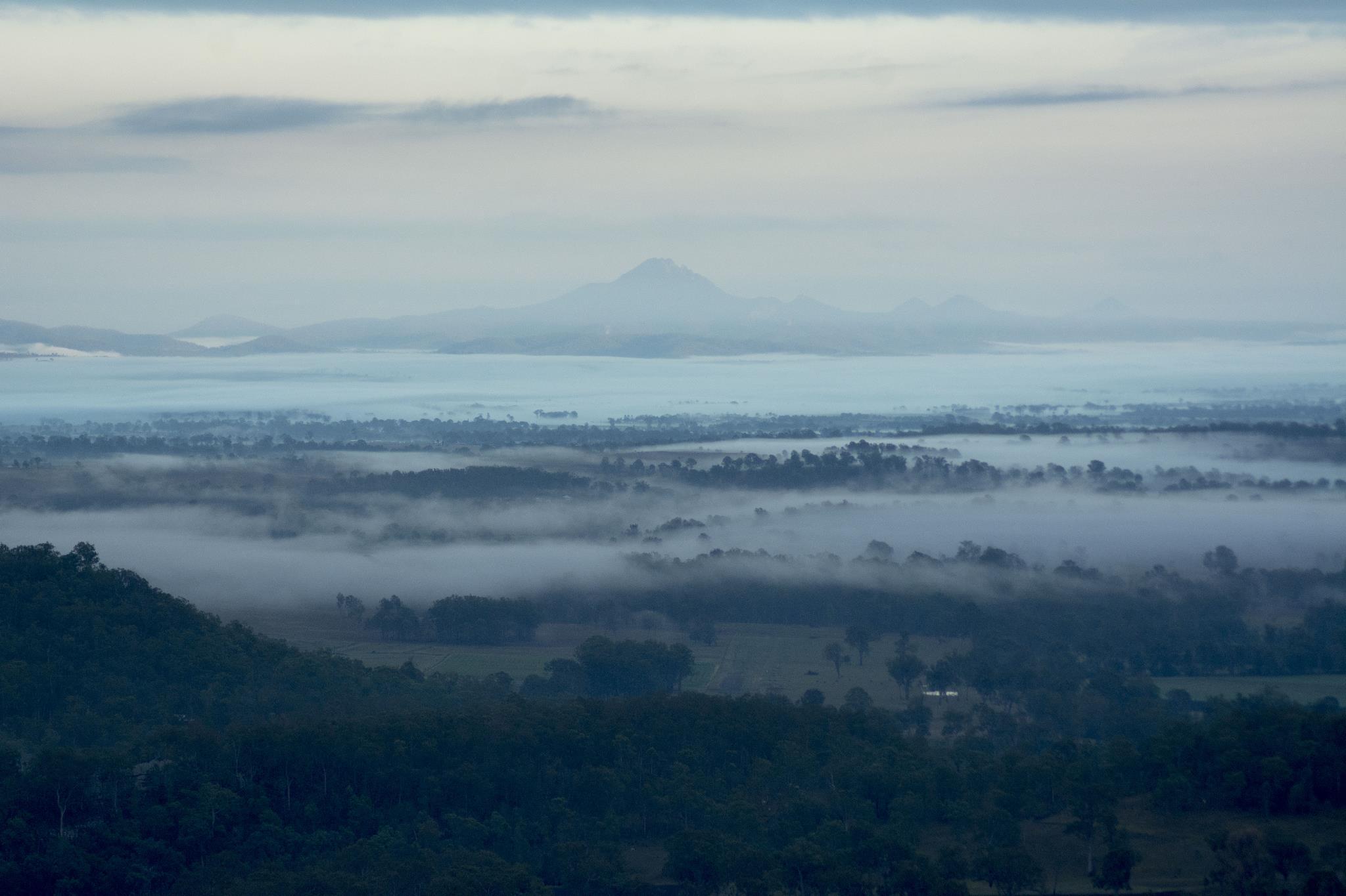 Mist through the valley.