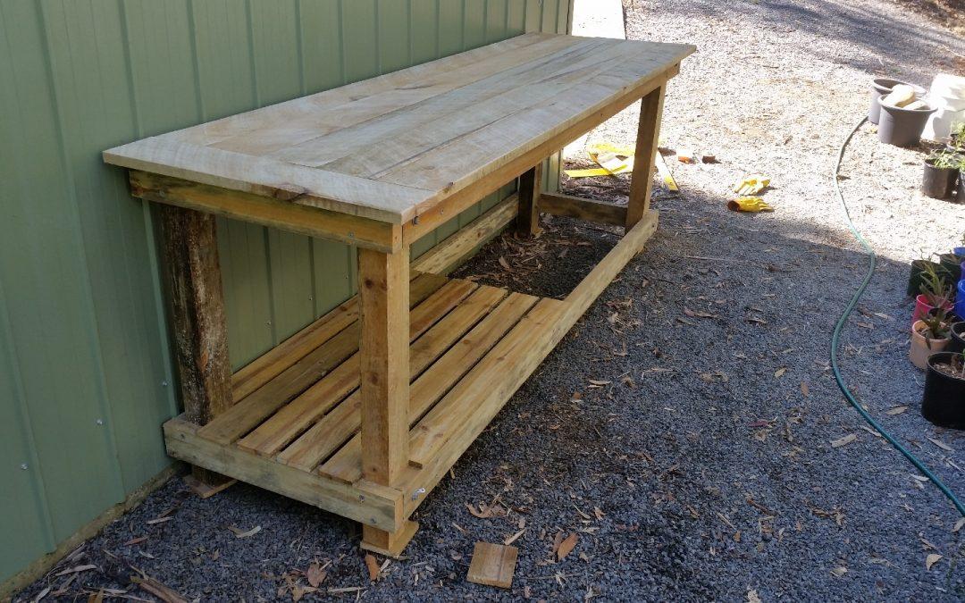 We Built a Potting Bench – 22nd July 2016