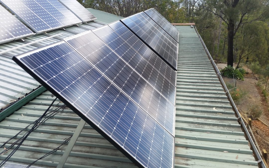 Solar Panel Adjustment Time again – 20th August 2018