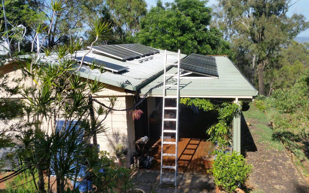 Solar Panel Adjustment Time again – 21st November 2018