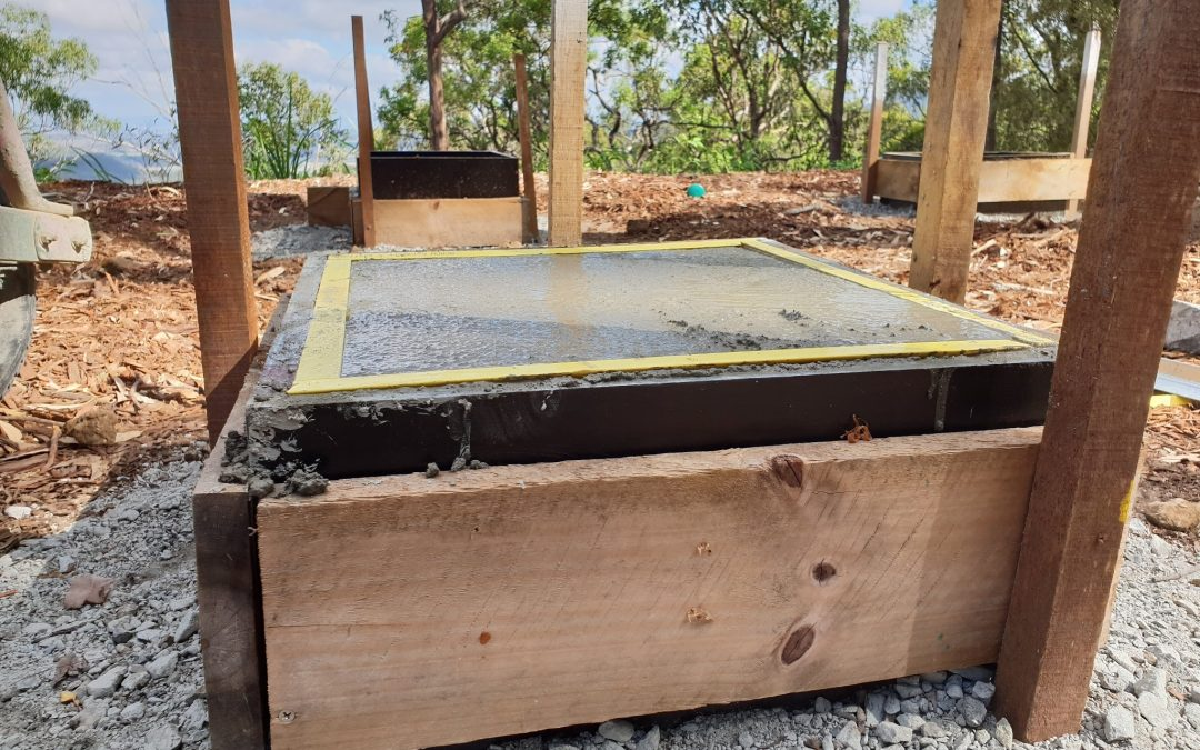 Pouring the Container Footings – Part 1 – 22nd January 2019